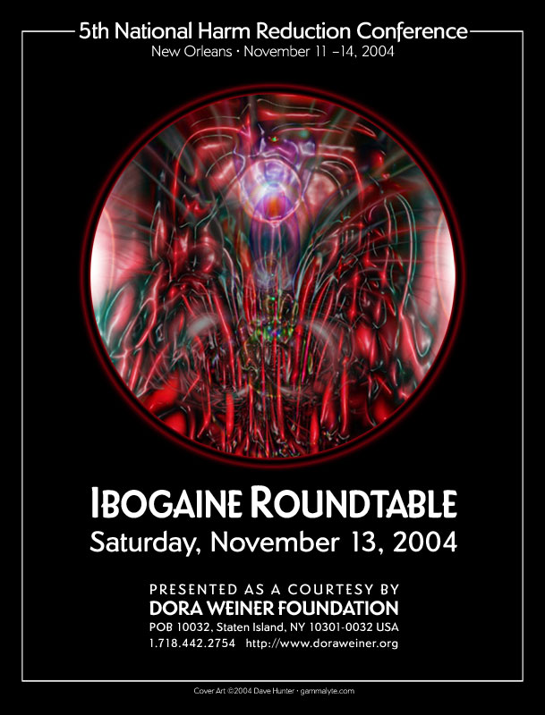 Cover for Ibogaine Roundtable brochure